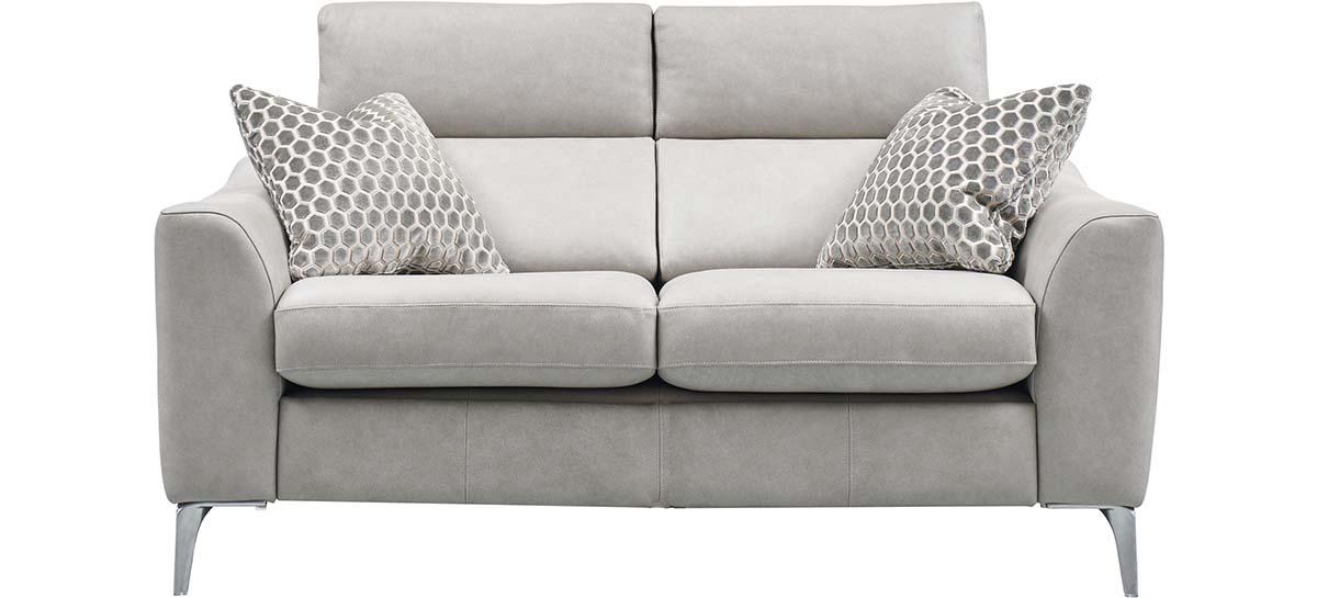 2 seater static sofa leather